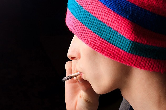 Youth smoking marijuana